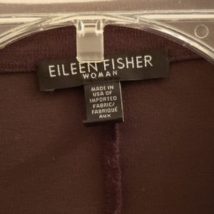 Brown Eileen Fisher rayon jacket